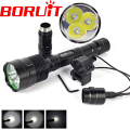Tactical Flashlight Torch Lamp 6000Lm 3* XM-L T6 LED Flash Light  Hunting Lantern with Gun Mount Pressure Switch