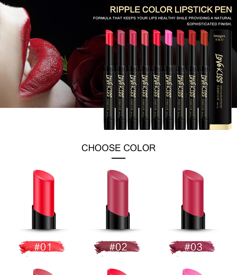 Nude Sexy Lipstick red Lipgloss Long lasting Pigment Matte Lipstick Women Fashion Makeup Cosmetic Valentine's GIFT private label 1