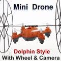 Мини Беспилотный Мини RC Мультикоптер с Камерой 2.4 Г 4CH 6 Оси LT-729 RC Беспилотный Самолет Восхождение Стены вертолет Лучший Подарок для Детей FSWB