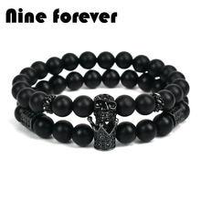 Nine forever бусины короны из натурального камня браслет мужские