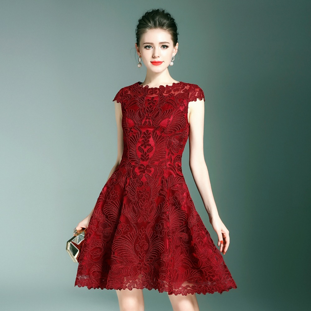 Embroidery dress new high quality spring summer
