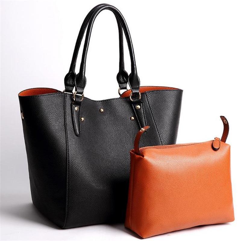 Luxury Women Tote Handbag Retro Composite Bag High Quality Office Ladies Big Shoulder Bag PU Leather Large Capacity Vintage Bag