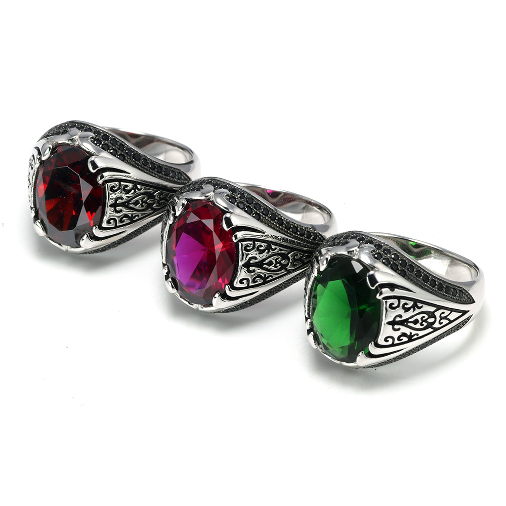 HTB1IihAasTxK1Rjy0Fgq6yovpXaj Luxury Turkish Jewellery For Men With Zircon Stone
