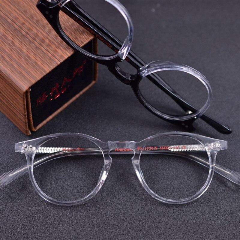 Handmade Vintage Transparent Round Eyeglassses Prescription Frames Men Wooden Retro Optical Glasses Frame For Women