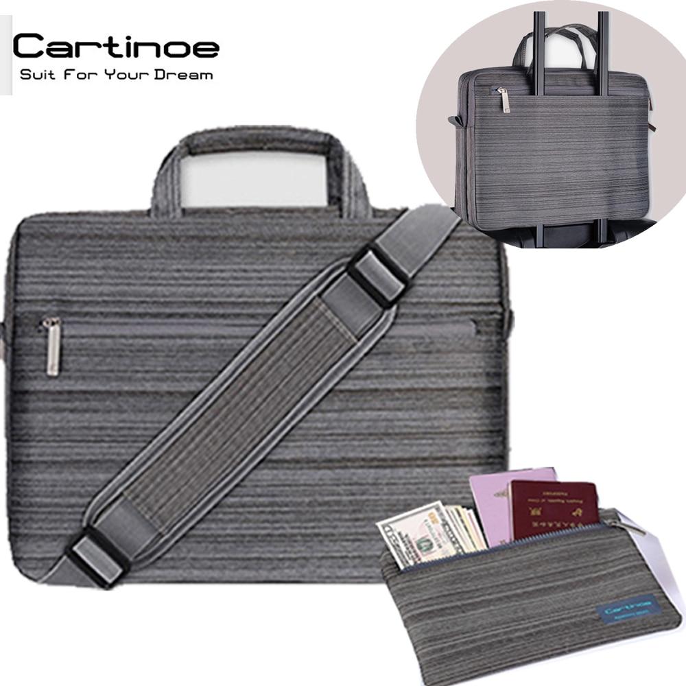 Cartinoe Brand Business Laptop bag 15.6 15 14 13.3 inch shoulder Messenger computer Tote bags office Briefcase men women Handbag все цены