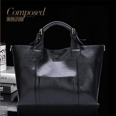 Fashion Women Genuine Leather Bags Women Real Leather Handbag Large Shoulder Bags Elegant Women Bags Bolsa black/red/blue/Bronze Сумка