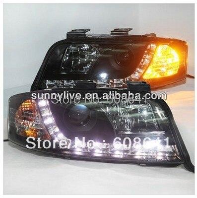 LED Head Light For Audi A6 LED head lamp 1997 2001 year V1 Type