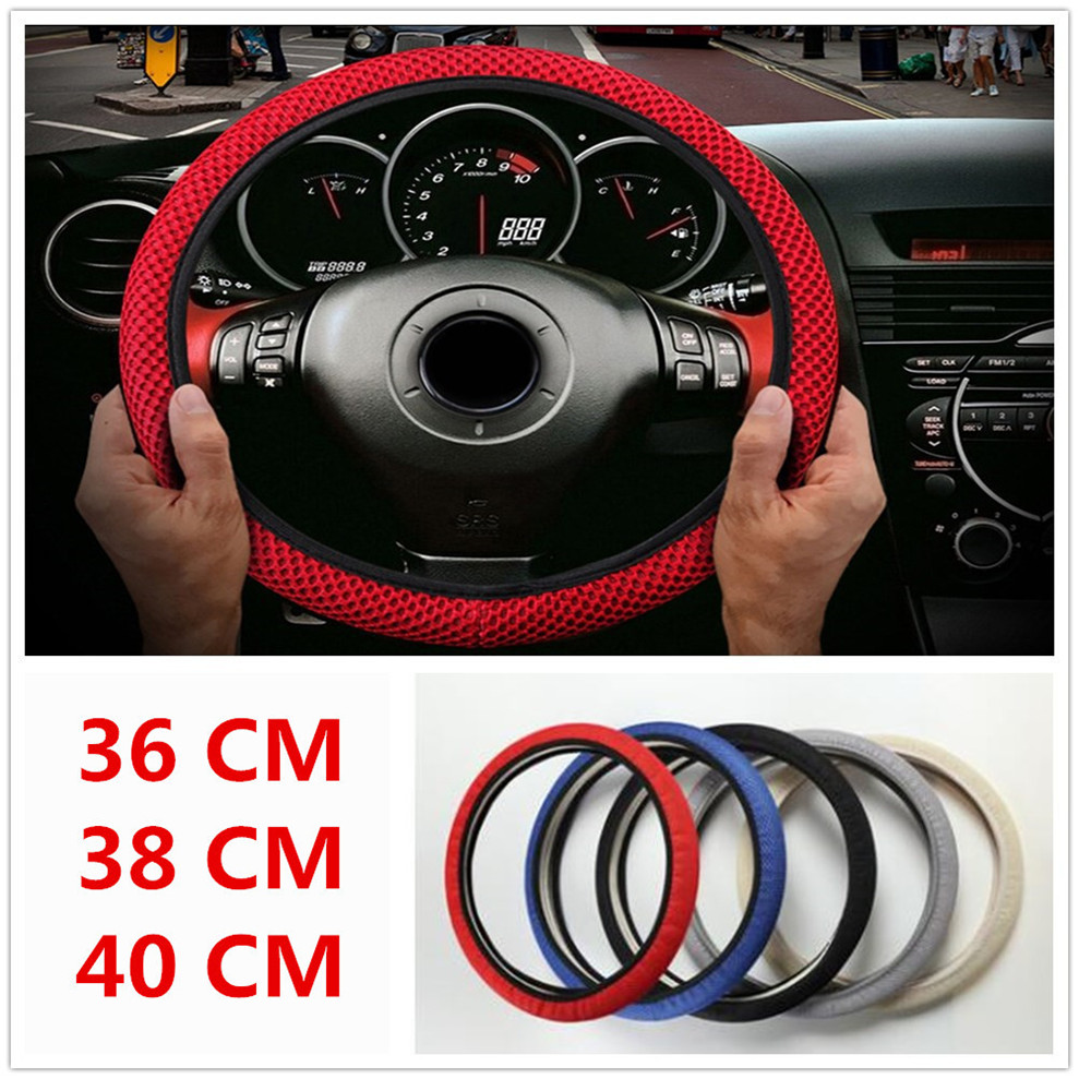 Car Steering <font><b>wheel</b></font> Cover Anti-Slip net Auto cloth FOR Mercedes Benz W211 W203 W204 W210 <font><b>W124</b></font> AMG W202 CLA W212 W220 CLK63 R F700 image