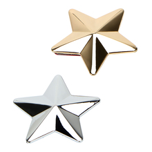 Metal Badge 3D Star Personalized Car Stickers and Decals Auto Sticker Exterior Accessories Car-styling Golden/Silver