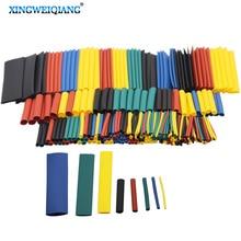 328 шт 1 набор оплетка провода автомобиля электрический кабель трубки наборы термоусадочные трубки полиолефин 8 размеров смешанные цвета
