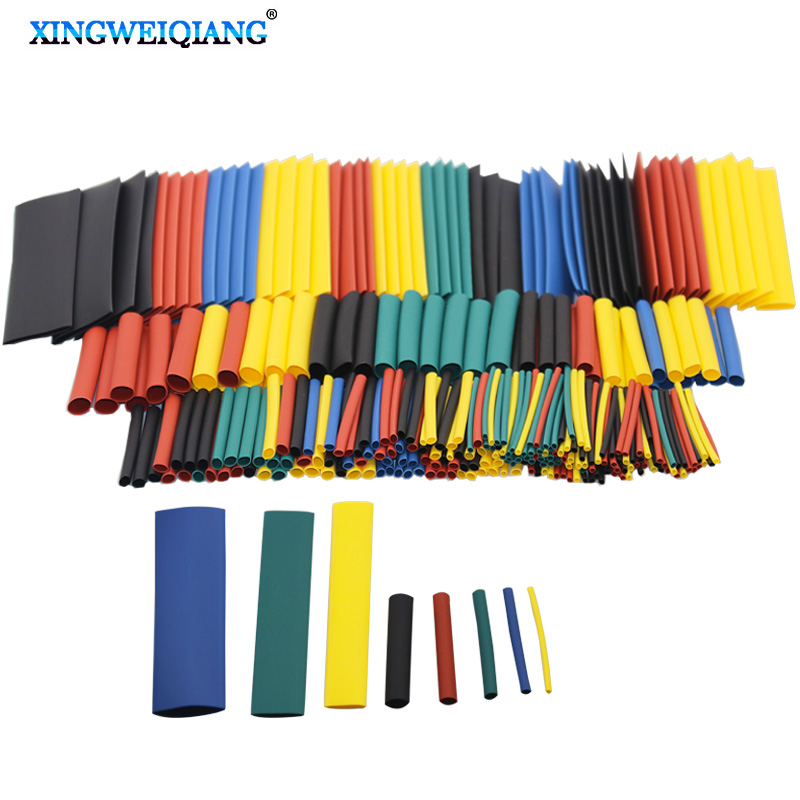 328pcs 1set Sleeving Wrap Wire Car Electrical Cable Tube Kits Heat Shrink Tube Tubing Polyolefin 8 Sizes Mixed Color