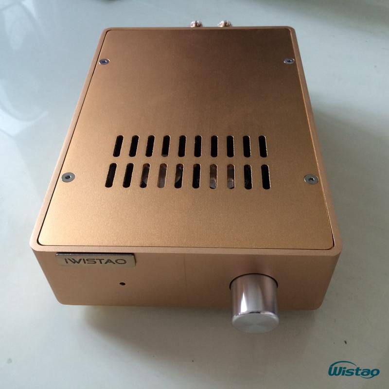 IWISTAO 2x100w HIFI Amplifier Stereo Discrete-Component HDAM Music Box A1 2SC5200/2SA1943 Whole aluminum Casing crafts iwistao 2x20w hifi amplifier stereo