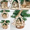 2018 Рождественский кулон украшения 8 форм красный первичный Деревянный Рождественская елка подвесные украшения Рождественские украшения для дома - фото
