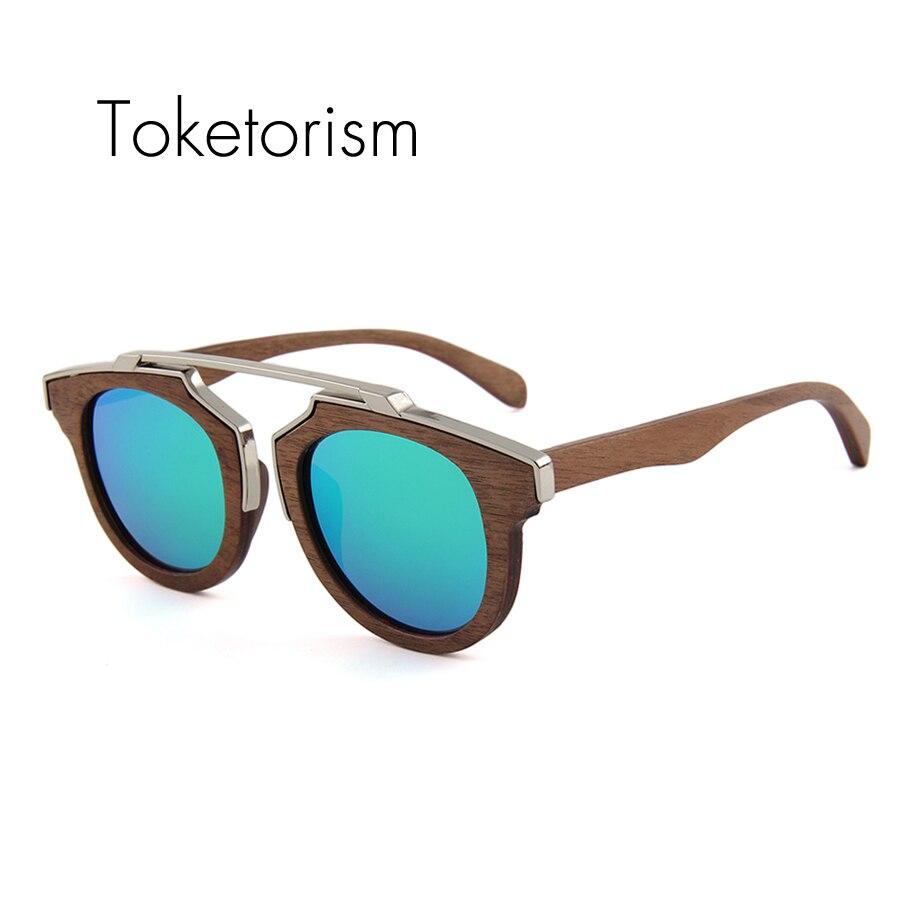 Toketorism the new wooden sunglasses women polarized men Luxury Handmade wood glasses 2265 new men and women polarized sunglasses fashion toad