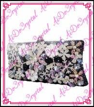 Aidocrystal reine handgemachte lila blumenmuster qualität frauen party handtasche