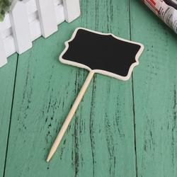 20 pçs/set retangle mini quadro negro suporte wordpad mensagem clipe vara suporte decoração do casamento 17x5x0.3 cm