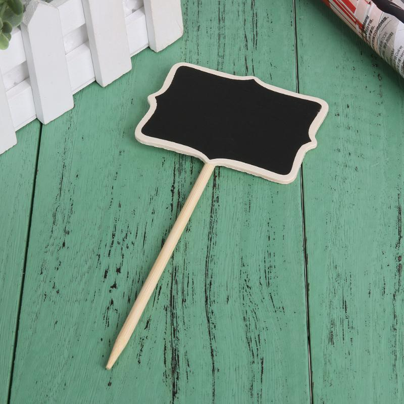 20pcs/set Retangle Mini Chalkboard Blackboard Stand Wordpad Message Board Clip Stick Stand Wedding Decoration 17 X 5 X 0.3cm
