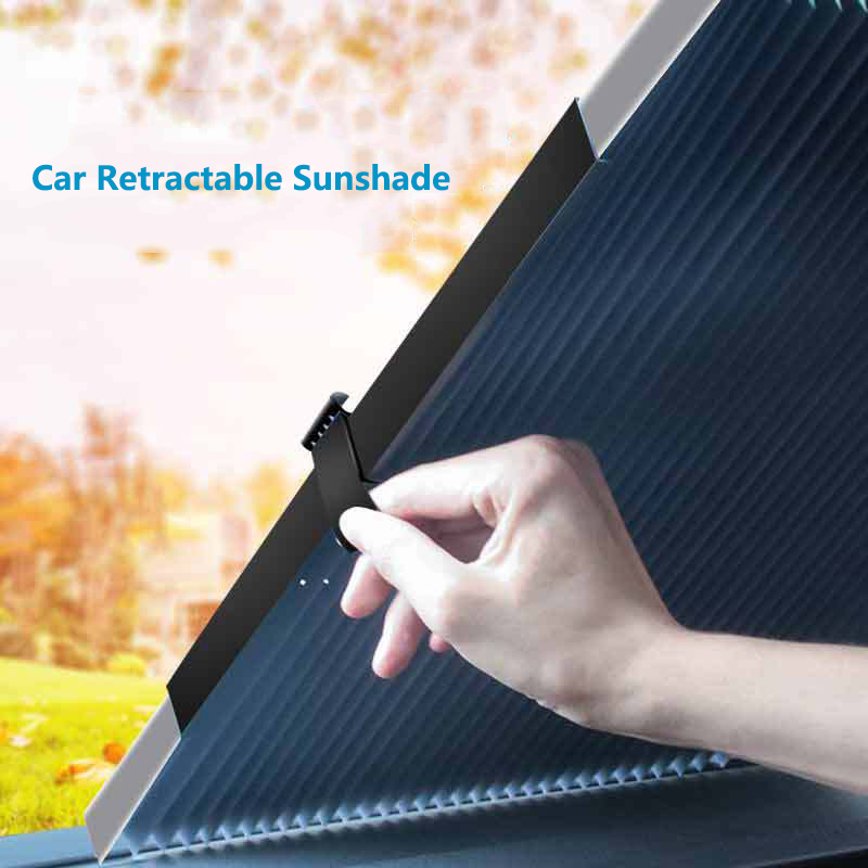 Car Sun Shade UV Protection Curtain Retractable Sunshade Cover Side Window Front Back Curtain Windshield Visor Car Accessories