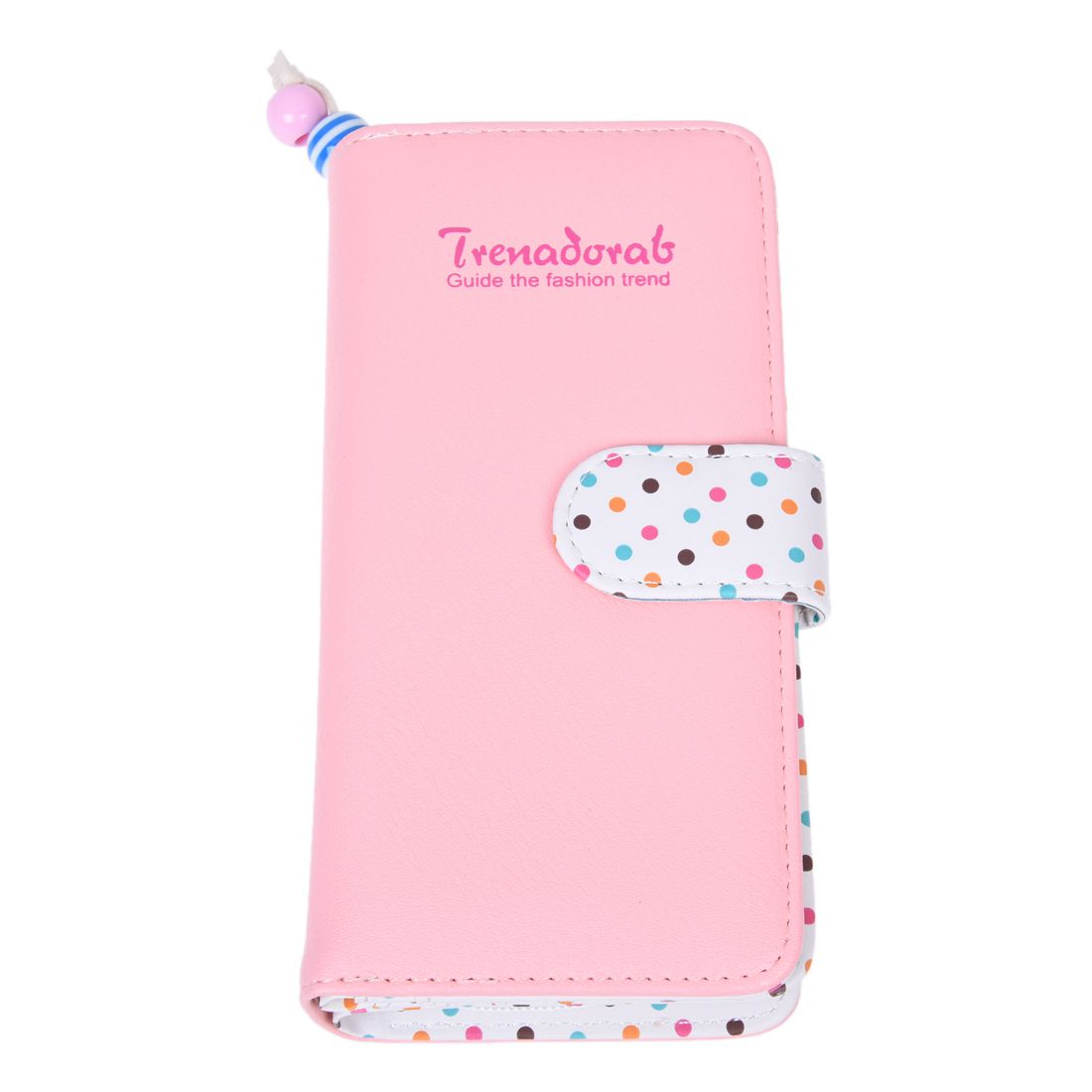 где купить HEBA Hot Sale Women's wallet Zipped PU Leather purse Pink Dots Card Wallet дешево