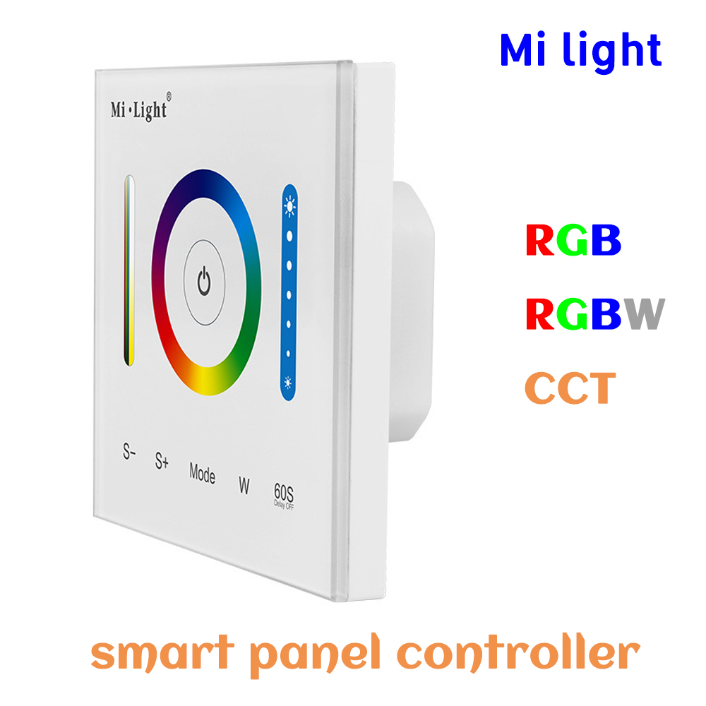 BSOD Smart Led Panel Controller RGB RGBW CCT Dimmer Milight P3 Controller Adjustable Touch DC12V24V Wall Switch for Led Strip