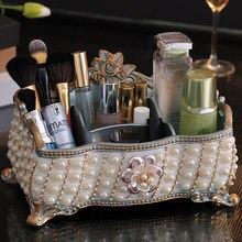 Creative European dressing table storage box desktop living room remote control finishing cosmetics beautiful
