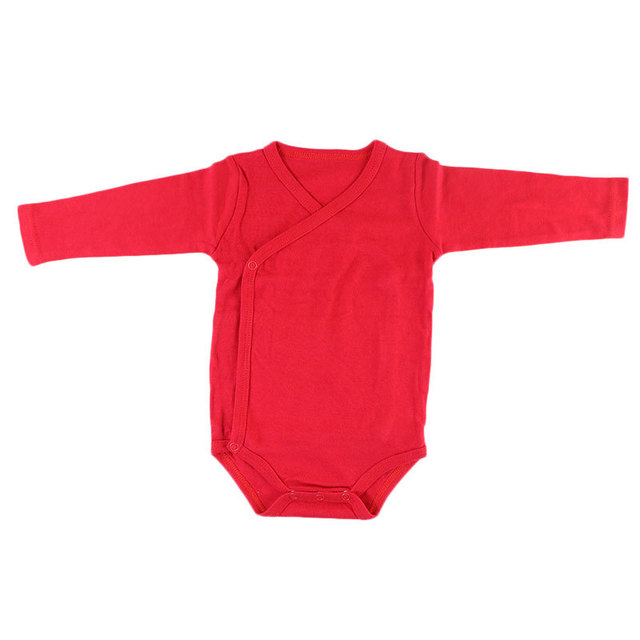 100% Organic Cotton Newborn Clothes Solid Color Simple Baby Boys Girls Long-Sleeve Side-Snap Romper Jumpsuit Baby Clothes Bodysuits & Onesies Infant (3-12 months) Shop by Age