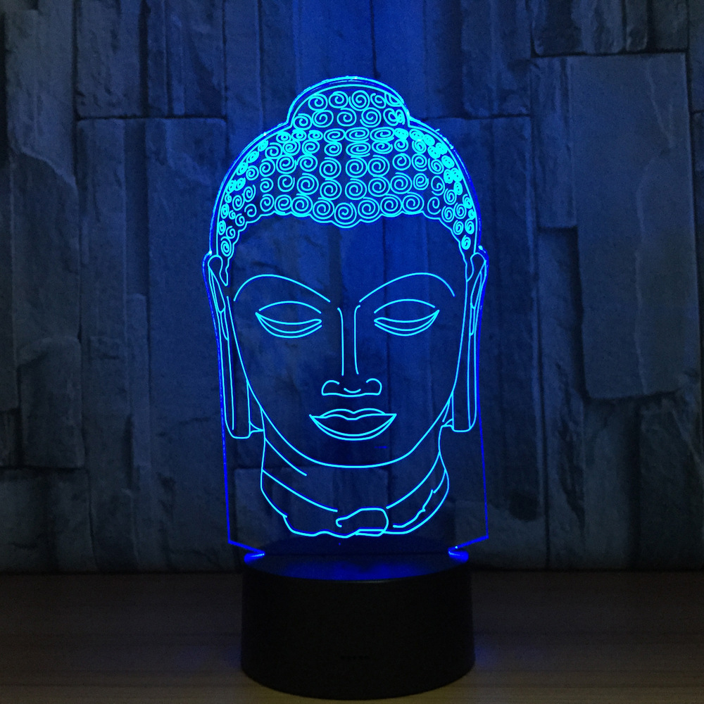 Led Sleep Lighting For Home Decor Gift 3D Night Light 7 Colorful Usb Buddha Head Modelling Creative L&aras Buddhism Table L&-in Night Lights from Lights ... & Led Sleep Lighting For Home Decor Gift 3D Night Light 7 Colorful Usb ...