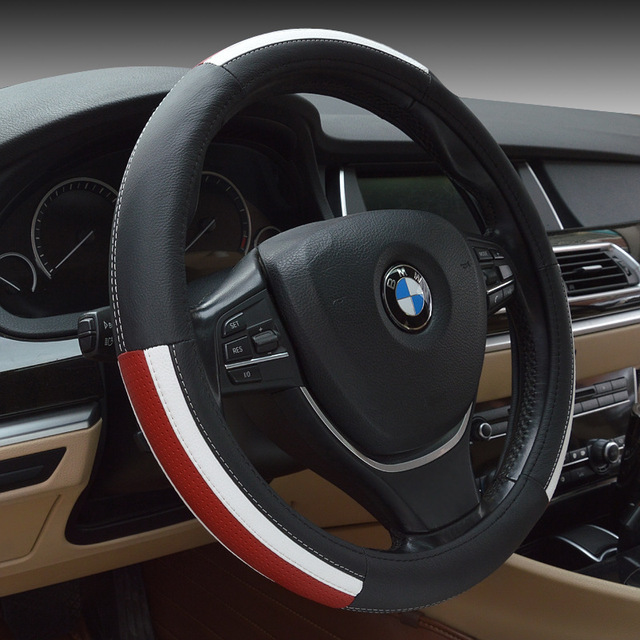 2016 Genuine Leather Steering Wheel Cover,Car Styling Accessories Volante Esportivo Free Shiping