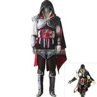 Assassins Creed Ezio Cosplay Disfraces Disfraces para Adultos Niños de Disfraces De Halloween Traje de Carnaval Completo Conjunto Personalizado