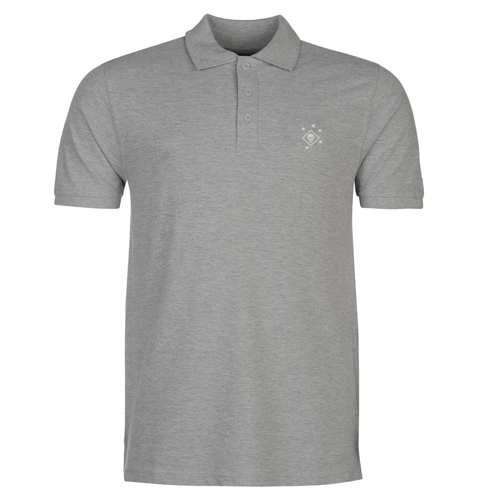 Mens Skull and Bones Evil Cool Embroidery Embroidered Polo Shirts