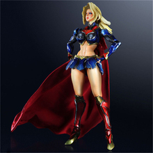 Haocaitoy PA Figures Supergirl Doll PVC Model Variant Action Figures Collectible Model Toys 25.5cm neca predator toys clan leader throne pvc predator action figures collectible model toys