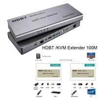 Wireless HDMI 2.0 HDBT /KVM Extender Ethernet transmitter receiver 100M Over CAT6 Support 4K*2K 3D PoE HDCP 2.2 RS232 HD BaseT