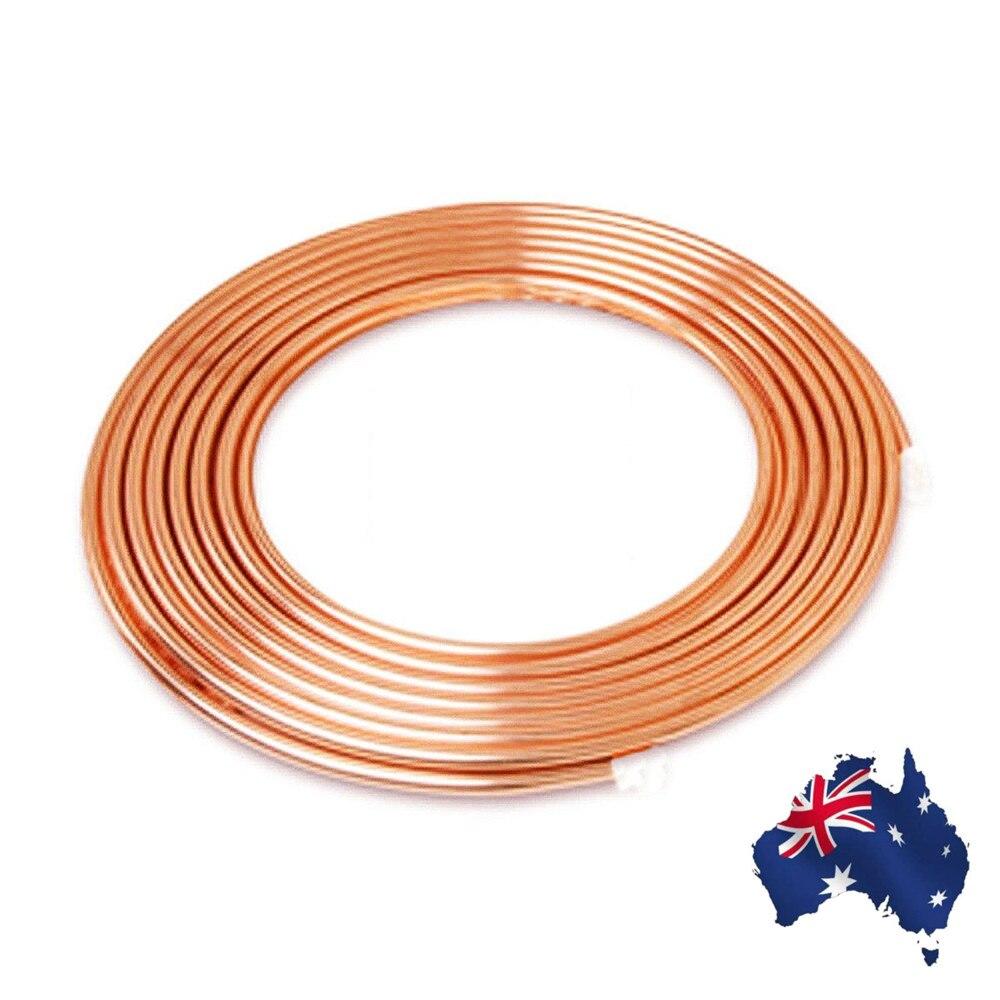 5/16 pouce diamètre 5m bobine souple cuivre laiton Tube tuyau climatiseur tuyau de cuivre réfrigérant gaz Tube bricolage refroidissement