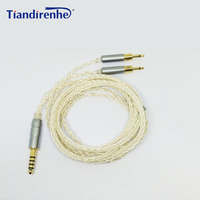 Upgrade 4.4mm Balance Audio Cable for Sennheise HD700 HD 700 Headphone Headset 8 Shares Single Crystal Copper Plated Silver Line