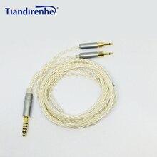 新アップグレードバランスケーブルsennheise HD700 hd 700ヘッドフォンヘッドセット8株単結晶銅メッキシルバーライン