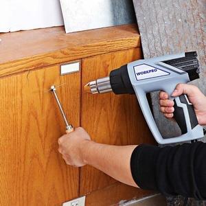 Image 5 - Workpro 220 220vヒートガン2000ワット家電ホットエアガン温度調節デジタル熱銃lcdディスプレイ