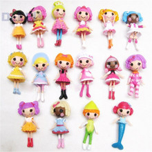 8pcs/ Lot Different Types Shapes 8CM Height MINI LALALOOPSY Kawaii Soft Plastic Dolls Action Figures Random Colors
