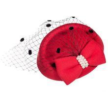Elegante Casamentos Fascinators Preto Vermelho Pillbox Chapéu de Palha Para  As Mulheres Fedora Das Senhoras Do 4e2275de440