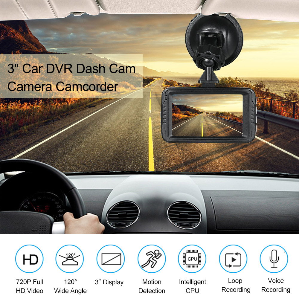 KKMOON Video Recorder Camera Car-Dvr Dash-Cam Automobile Motion-Detection/loop-Recording