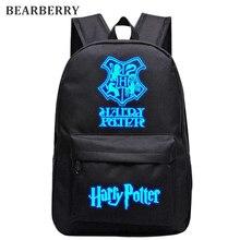 Золотарник 2017 Гарри Поттер нейлон Рюкзаки световой студент школьная сумка мальчик дорожные сумки для девочек рюкзаки 13 видов стилей