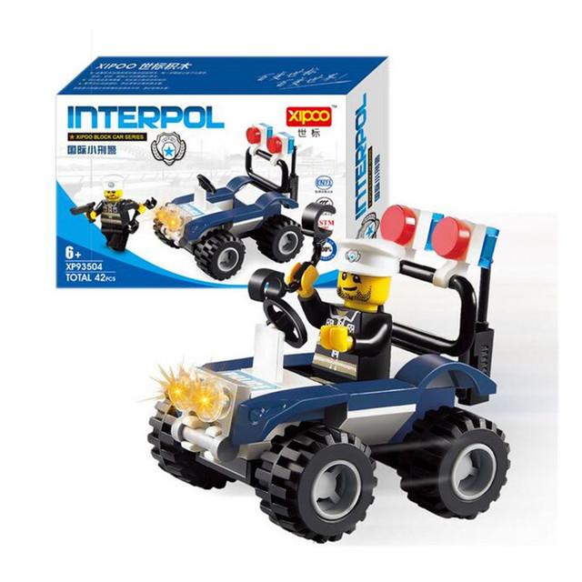 42pcs/set International Criminal Police Model Building Blocks Toy