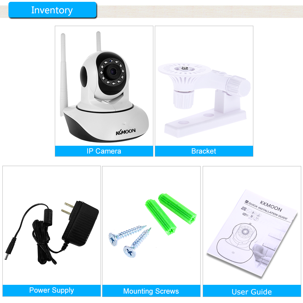 Image 5 - KKmoon 1080P Wireless WIFI Camera WIFI Pan Tilt HD IP Camera 2.0MP Two way Audio Night Vision Motion Detection CCTV Camera-in Surveillance Cameras from Security & Protection