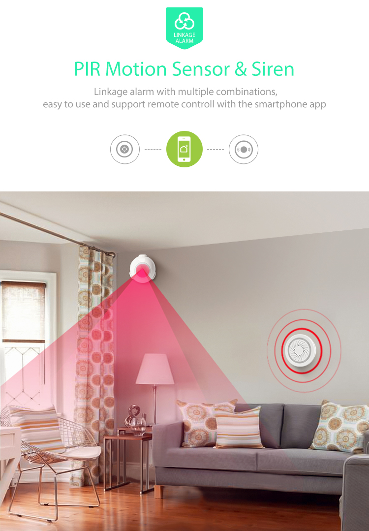 TUYA Smart Home Video Alarm Kit Concluding 720P Cameras 3 sensors 1 Siren Alarm All Support Wifi with SmartLife TUYA Smart APP_F06
