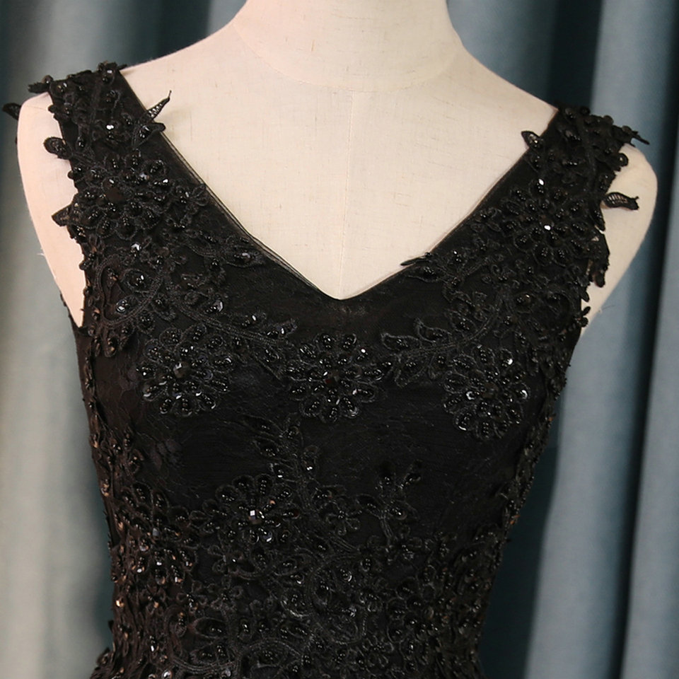 Sexy Black Prom Dresses Short 2018 Burgundy Prom Dress V Neck Appliques Beading Lace Up Cheap Women Cocktail Party Gown Casual 14