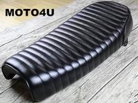 MOTO4U Universal Cafe Racer Motorcycle Seat stripe suture Seat Cushion Refit Motorbike Seats MASH125 MUTT125 MASH250 MUTT250