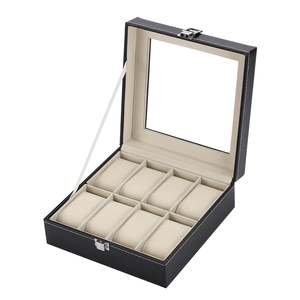 Portable Size 8 Slots Fashionable Watch Box Soft PU Leather Watch Storage Box Watch Display Slot Case Box Case DROPSHIPPING