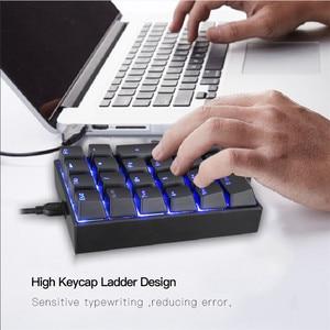 Image 3 - MOTOSPEED K23 Mechanical Numeric Keypad Wired 21 Keys Mini Numpad LED Backlight Keyboard Laptop Numerical for Cashier Red Switch