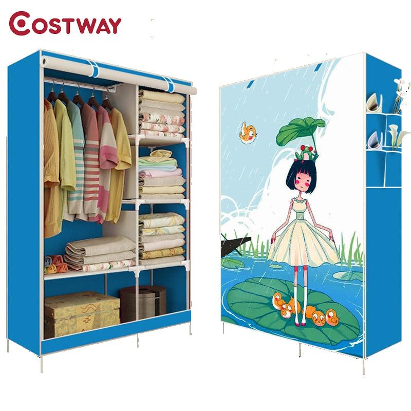 ▽COSTWAY dormitorio impresión no tejida armarios paño ahorro de ...