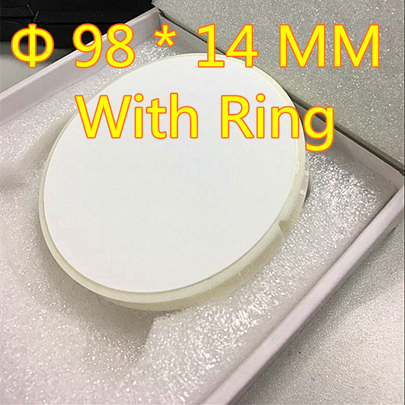 Wholesale 10 Pieces OD 98*14 MM Dental Zirconia Blocks With Plastic Ring Outside for Open CAD/CAM Milling Machine Making crowns