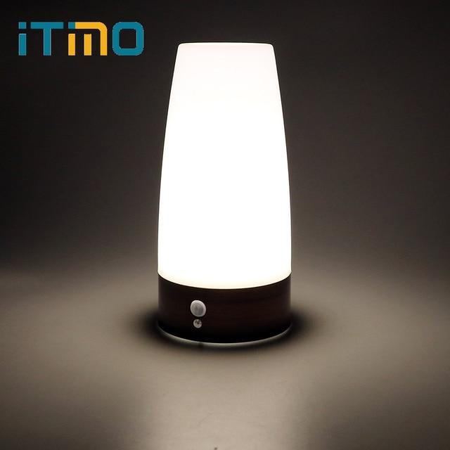 Superb ITimo Wireless Table Lamp Bedroom Light PIR Atmosphere LED Night Light Warm  White Light Sensor +